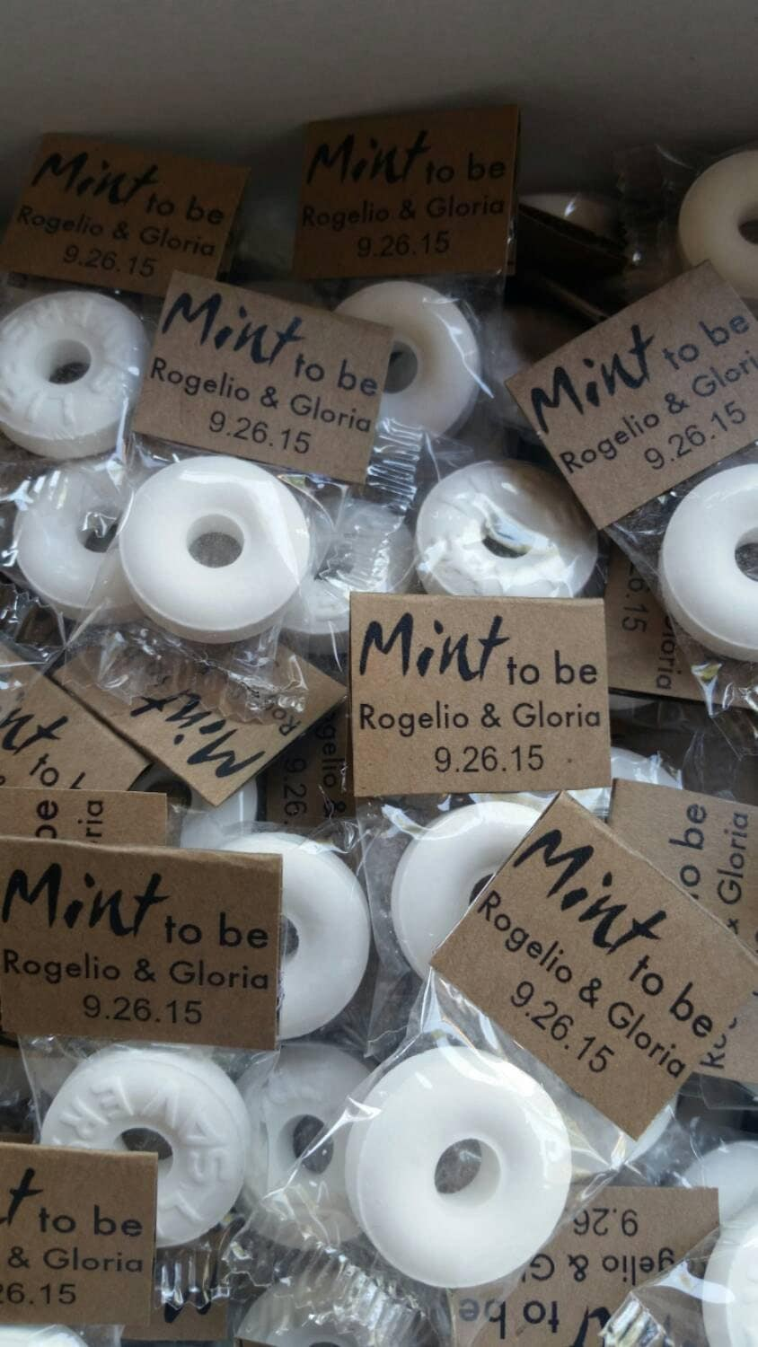 100 mint to be wedding favors rustic wedding by tagitwithlove for Wedding party favors cheap