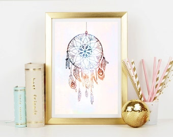 Dream Catcher Art Print - Home Decor - Wall Art - Art Print