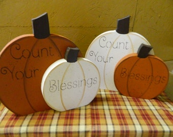 Count Your Blessings Pumpkins