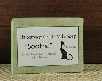 "Goats Milk Soap - ""Soothe"" fragranced with Milk, Honey & Oatmeal"