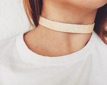 Real Leather Chokers made from reporposed leathers
