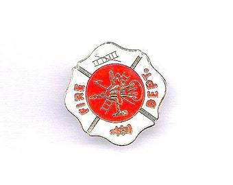 Vintage Fire Department Hat/Lapel Pin