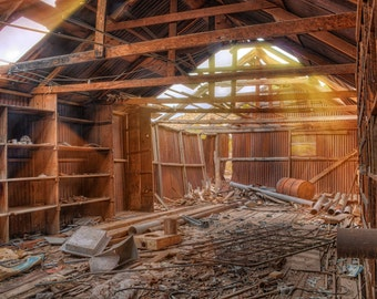 Old, Barn, Goodsprings, Nevada, Workshop, Garage, Ghost Town, Sun rays, Las Vegas