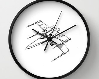 Star wars, Starwars, x-wing, george lucas, star wars clock, star wars decor