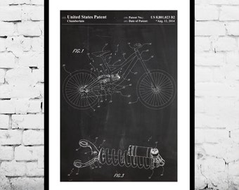 Bicycle Shock Patent, Bicycle Frame Poster, Bicycle Shock Print, Bicycle Frame Art, Bicycle Shock Decor, Bicycle Frame Blueprint