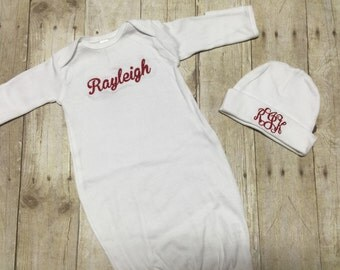 Personalized newborn gown