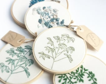 Houseplant Embroidery Hoop