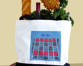 Berries Two Tone Delux Tote