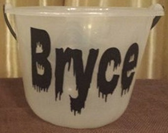 Personalized Name Halloween Bucket