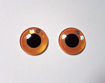 Hand Made Blythe Eye Chips Pearize Orange (1 pair)