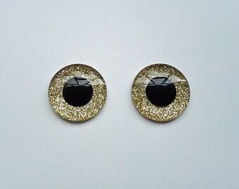 Hand Made Blythe Eye Chips Shining Sand (1 pair)