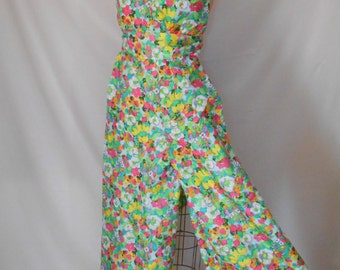 """Groovy 1960's Vibrant Flower Power Palazzo Jumpsuit """"YEAH BABY!"""" by I.Magnium"""