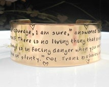 Wizard of Oz Jewelry, Wizard of Oz Gifts, L. Frank Baum, Wizard of Oz, Courage Jewelry, Inspirational Quote, Movie Quotes, Fandom Gifts