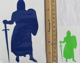 Vinyl Gamer RPG Car Window Decal Sticker Male Templar Knight Warrior with Sword Silhouette Role Playing Game Gaming D&D Dungeons Dragons