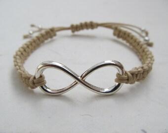 Infinity bracelet, macrame bracelet