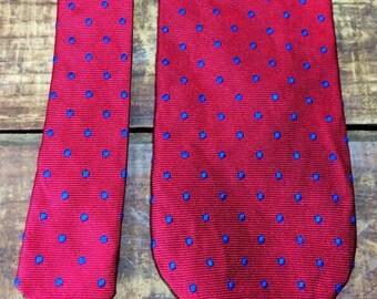 Vintage JCrew J.Crew Red Silk Tie Necktie-- Made in the USA.