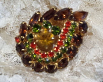 Vintage brooch fall colors