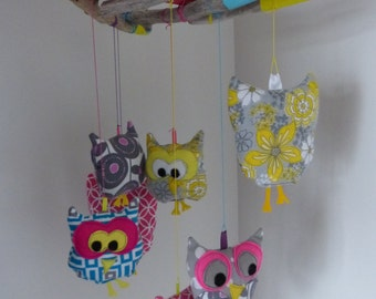 Mobile baby owls