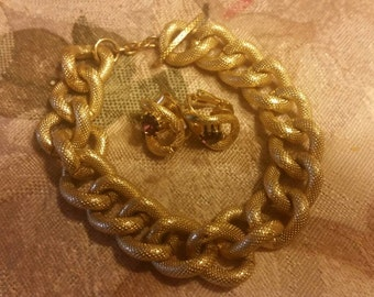 Avon Vintage Bracelet and Earring Set