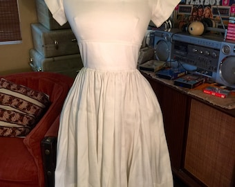 1950's Cream Colored Dress