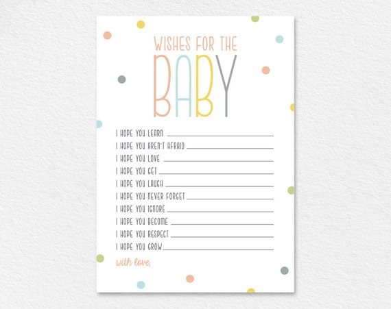 It is a photo of Insane Wishes for Baby Free Printable