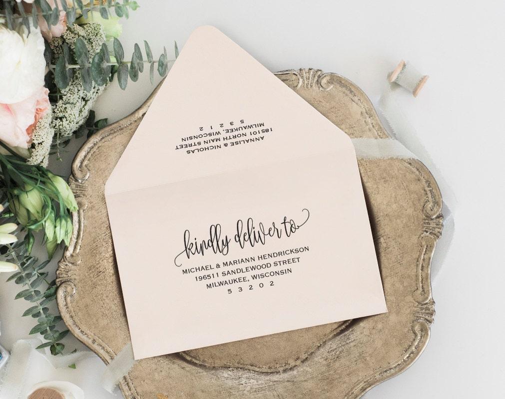 envelope template printable envelope wedding envelope