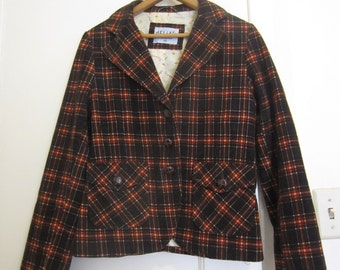 Delia's fall plaid jacket 90s medium juniors