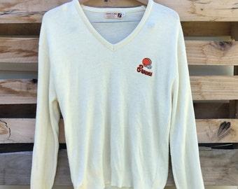 Vintage 70s Cleveland Browns NFL pullover v neck sweater size large