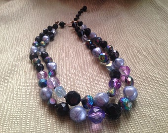 Double stranded Vintage beaded necklace