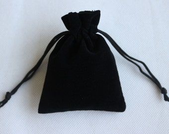 20 pcs Black Velvet Drawstring Pouches Jewelry Gift Bags Small Jewelry bags DZ0001-7*9cm