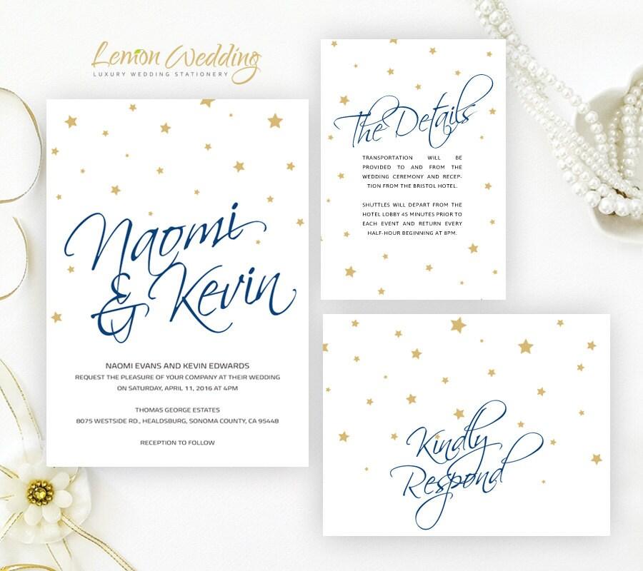 Starry Wedding Invitation Kits Printed Cheap Wedding