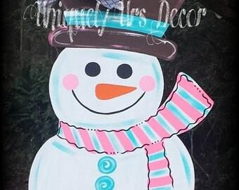 Snowman Door Hanger, Christmas Door Hanger, snowman, door hanger