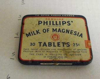 Philips Milk of Magnesia tin