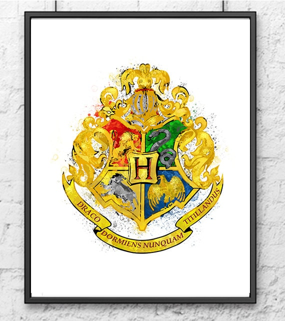Lucrative image inside printable hogwarts crest