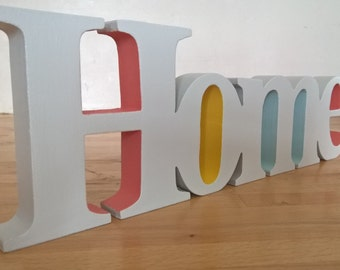 Wooden Painted Home Sign