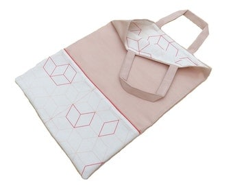 "Tote bag ""Margherita"" rose"