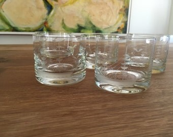 Ships and Seagulls Etched Tumblers