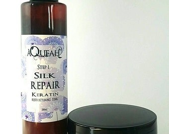 professional strength hair rescue 2 step repair treatment  with keratin and wheat protein silk repair repairs damaged hair