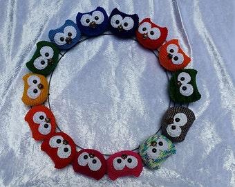 crocheted amigurumi owls