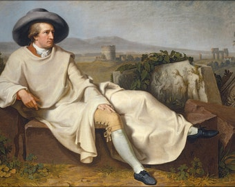 24x36 Poster . Goethe In The Roman Campagna By Tischbein 1787