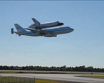24x36 Poster . Shuttle Carrier Aircraft, Or Sca, And Space Shuttle Endeavour