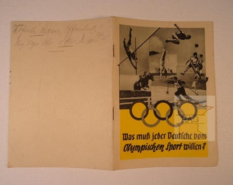 1936 Berlin Olympics Sports Pamplet (in German) RARE