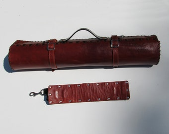 Leather Knife Roll - Cordovan