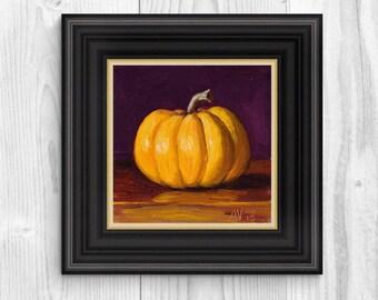 Original Oil Painting Still Life, Small Gourd by Aleksey Vaynshteyn