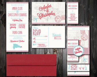 Destination Wedding Invitation Suite (100)