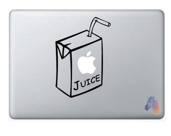 Apple Juice Apple Macbook Decal