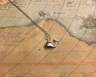 Whale of a Time 925 Sterling Silver Whale Pendant Necklace by How I Wonder