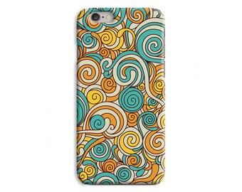 Blue Orange Sprial indie iPhone Case Plastic Snap Case iPhone 6 6 Plus / iPhone 5 5S / iPhone 5C / iPhone 4 4S \ hc-JJ178