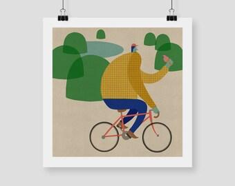 "Giclee Print ""CYCLING"" By Celeste Potter"