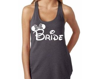 "Disney ""Minnie Bride"" Shirt // Bridesmaid Shirt // Disney Wedding // Disney Bride // Disney Minnie Bride's Shirt // Maid of Honor Shirt"